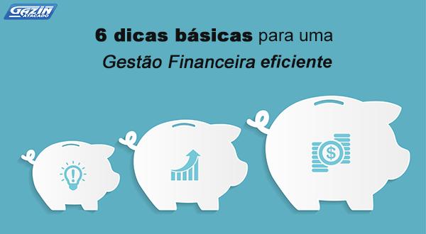 6 dicas básicas para uma Gestão Financeira eficiente