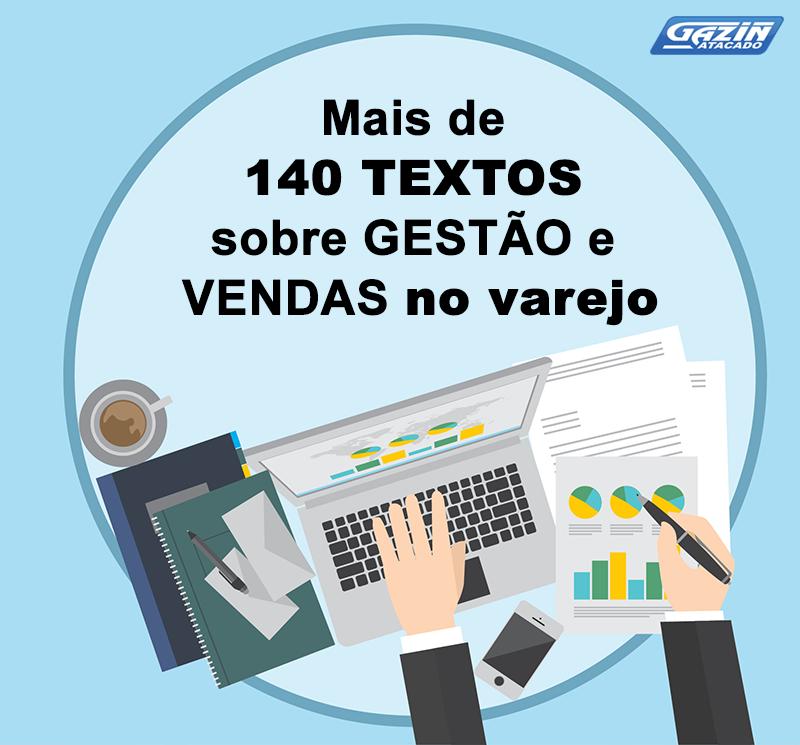 Mais de 140 textos sobre gestão e vendas no varejo