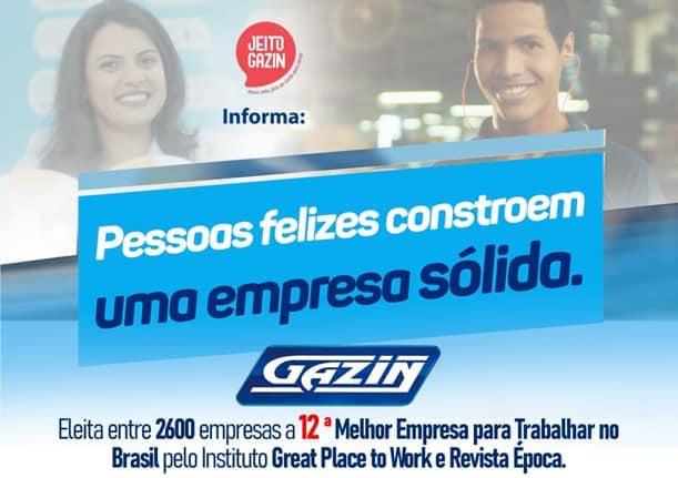 Gazin é eleita uma das melhores empresas para se trabalhar no Brasil!